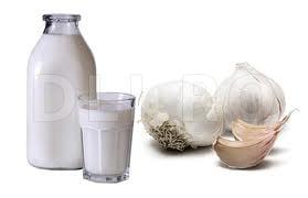 Tusea convulsiva, Lapte si usturoi