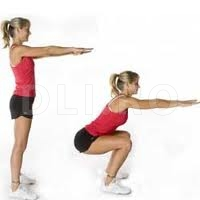Exercitiile fizice si dieta, Genuflexiuni