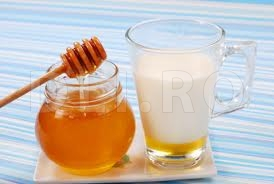 Lapte cu miere de albine