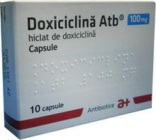 Doxiciclina Atb 100mg 10 capsule