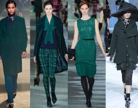 Creatii vestimentare in verde inchis, Foto: acreativecookie.blogspot.com