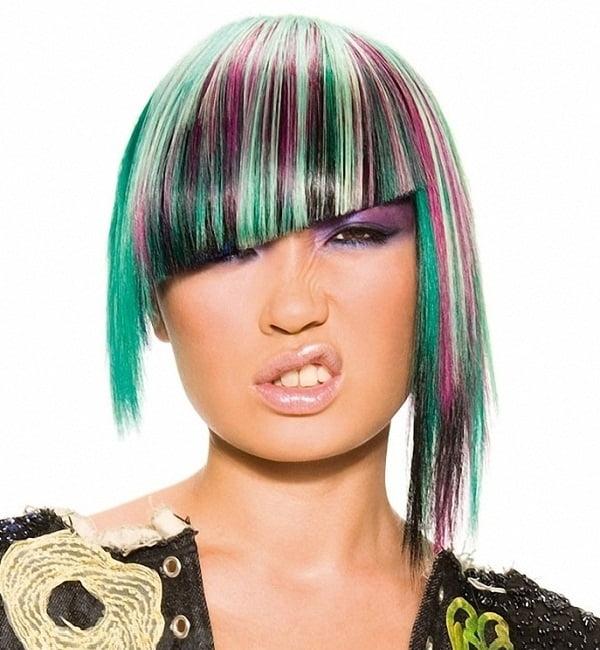 Coafura trendy in nuante de culori diferite, Foto: fashiontrendsz.com