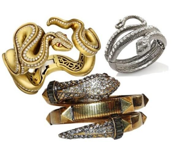 Bratari in forma de sarpe tip bijuterii, Foto: trendofstyle.com