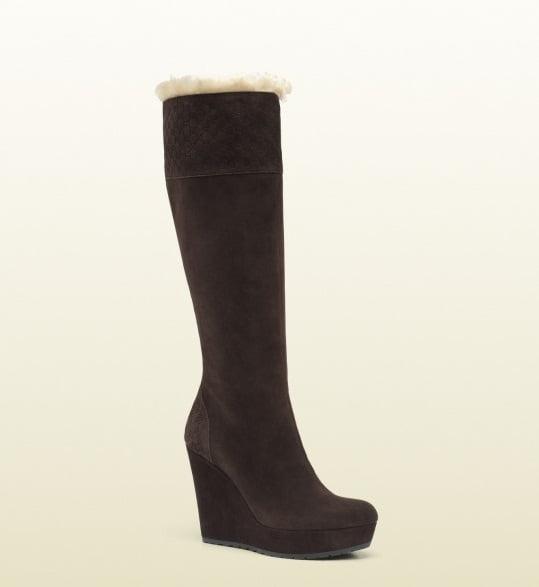 Cizme lungi imblanite, marca Gucci, Foto: thebestfashionblog.com