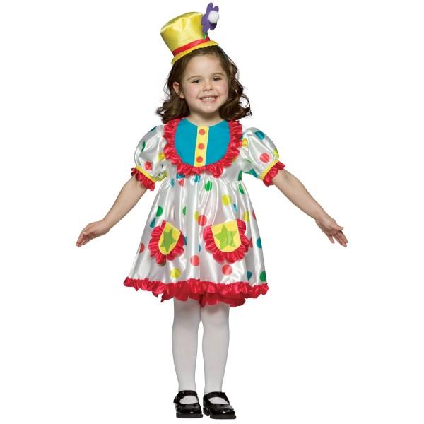 Costum de clown pentru fetite, Foto: buycostumes.com