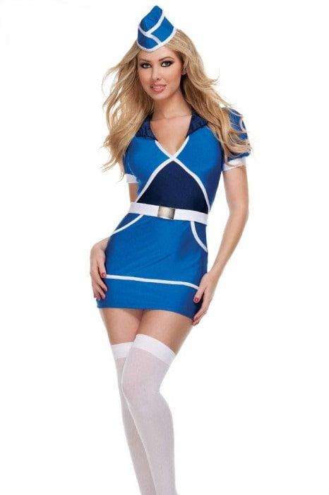 Costum de stewardesa, Foto: okazii.ro