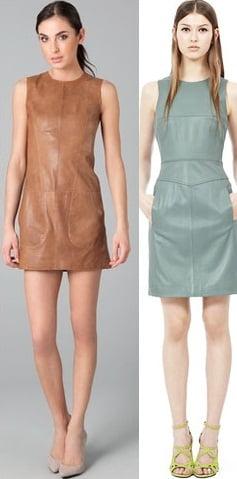Rochii monocromatice din piele pentru femei, Foto: leatherfads.com