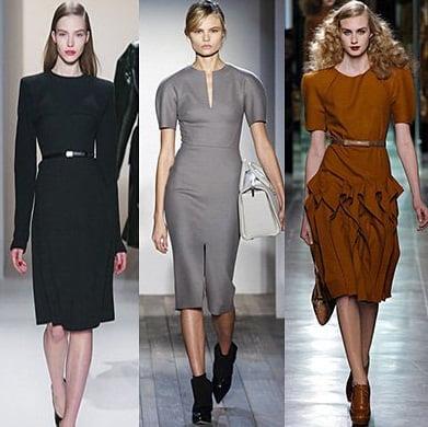 Rochii pentru femei de afaceri, creatii Calvin Klein Collection, Victoria Beckham, Bottega Veneta, Foto: fallwinterfashiontrends.com