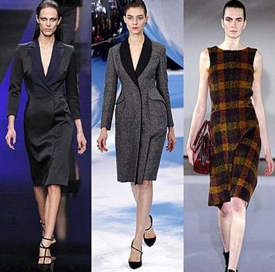 Rochii pentru femei de afaceri, creatii Elie Saab, Christian Dior, Jil Sander, Foto: fallwinterfashiontrends.com
