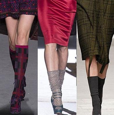 Sosete cu pantofi, creatii Anna Sui, Dsquared2, Karen Walker, Foto: fallwinterfashiontrends.com