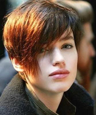 Tunsoare asimetrica pentru par scurt, Foto: axehair.blogspot.com