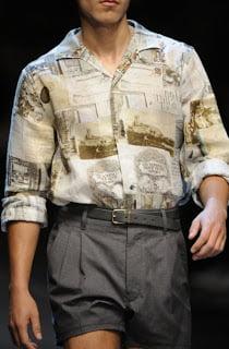 Camasa cu pantaloni scurti, Foto: fashiontrendsomen.blogspot.com
