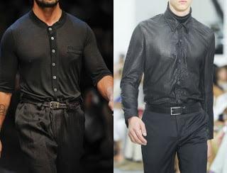 Camasi de culoare neagra la moda in anul 2013, Foto: fashiontrendsomen.blogspot.com
