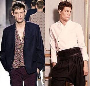 Camasi elegante pentru barbati, marca Dries Van Noten, Balmain, Foto: fallwinterfashiontrends.com