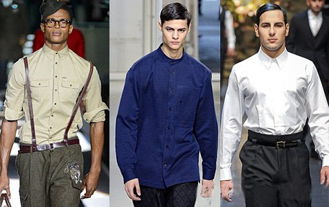 Camasi elegante pentru barbati, marca Dsquared2, Issey Miyake, Dolce & Gabbana, Foto: fallwinterfashiontrends.com