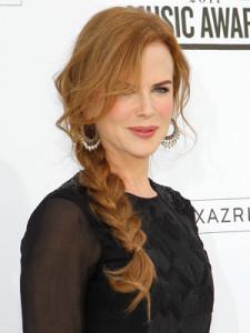 Coafura cu parul impletit la Nicole Kidman, Foto: hairsafter40.blogspot.ro