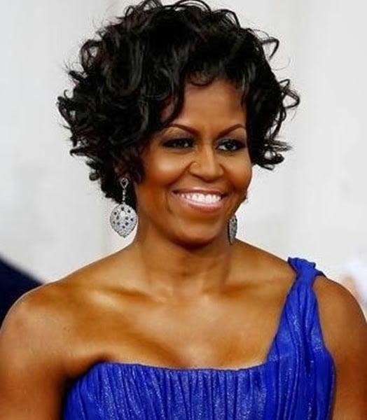 Coafura eleganta la Michelle Obama, Foto: modelatucabello.blogspot.ro