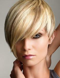 Coafura pentru femei cu par scurt si blond, Foto: modelatucabello.blogspot.ro