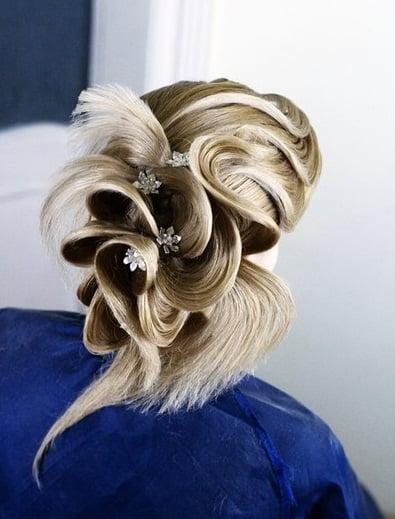 Coafura pentru mireasa, stilist Farrukh Shamuratov, Foto: vk.com