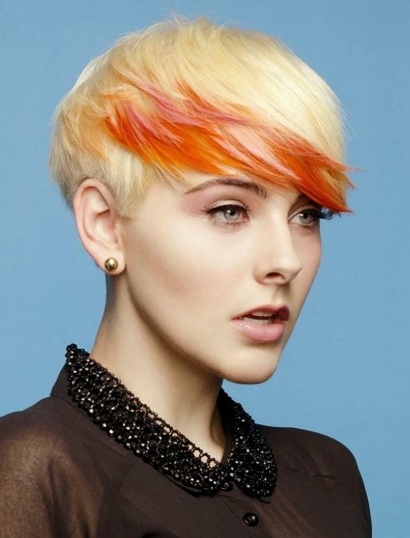 Coafura simpla pentru femei cu parul scurt si blond, Foto: modelatucabello.blogspot.ro
