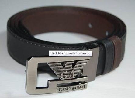 Curea marca Giorgio Armani pentru jeans, Foto: londonfashion.org.uk
