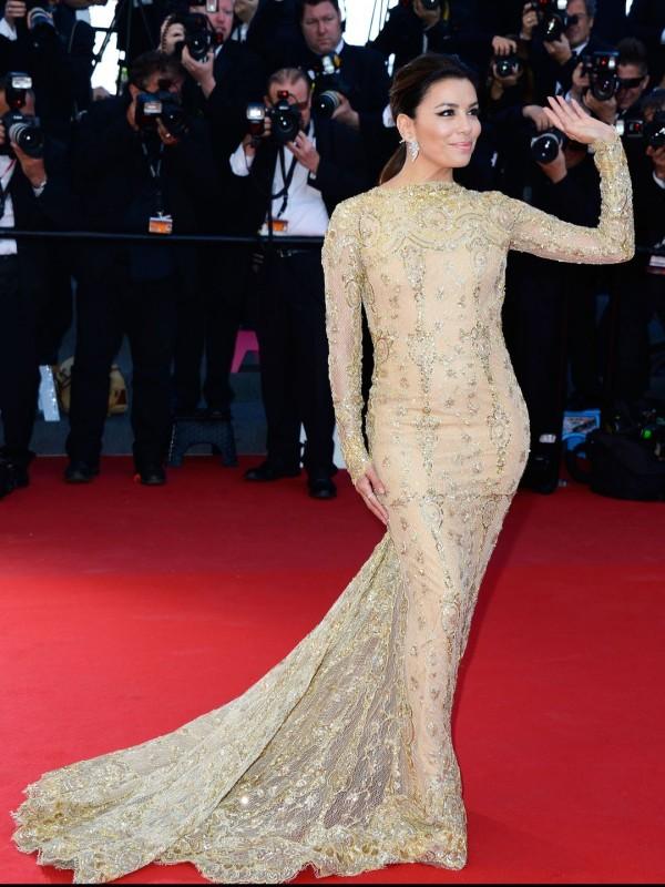 Eva Longoria in rochie marca Zuhair Murad, Foto: closetofamuse.blogspot.ro
