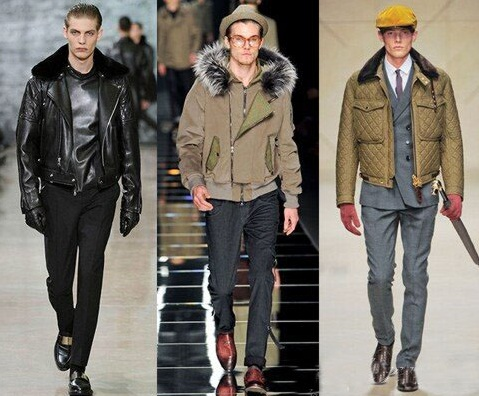 Geci la moda in toamna-iarna 2013-2014, marca Yves St. Laurent, John Richmond, Burberry, Foto: fallwinterfashiontrends.com