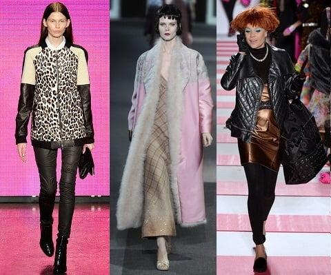 Imbracaminte exterioara pentru femei la moda in iarna 2013-2014, creatii DKNY, Louis Vuitton, Betsey Johnson, Foto: fallwinterfashiontrends.com