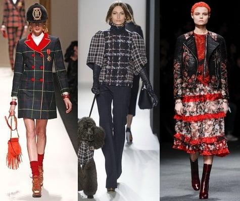 Jachete la moda in 2013-2014, marca Moschino, Mulberry, Givenchy, Foto: fallwinterfashiontrends.com