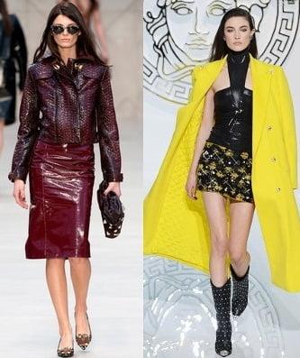 Moda in iarna anului 2013-2014, colectii Burberry Prorsum, Versace, Foto: fallwinterfashiontrends.com