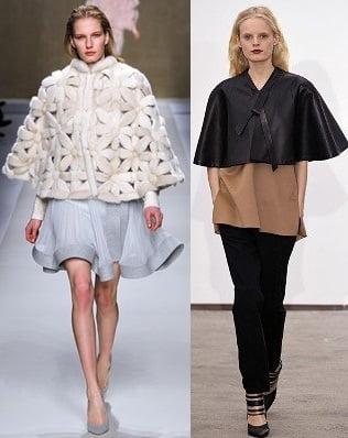 Pelerine la moda in 2013-2014, creatii Blumarine, Derek Lam, Foto: fallwinterfashiontrends.com