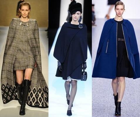 Pelerine la moda in 2013-2014, creatii Blumarine, Giorgio Armani, Chloe, Foto: fallwinterfashiontrends.com