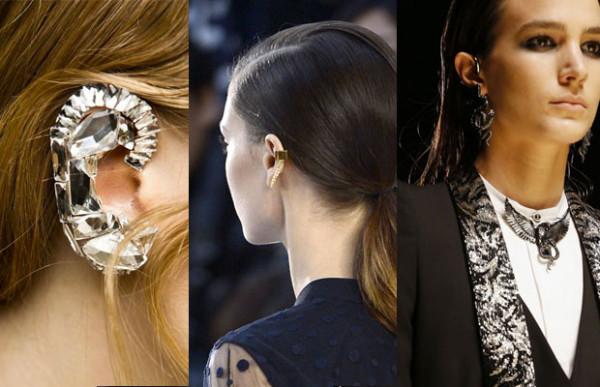 Bijuterii, cercei pentru ureche, creatii Dries Van Noten, Chloé si Roberto Cavalli, Foto: madmoizelle.com