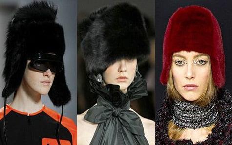 Caciuli din blana pentru femei, marca Michael Kors, Ralph Lauren, Chanel, Foto: fallwinterfashiontrends.com