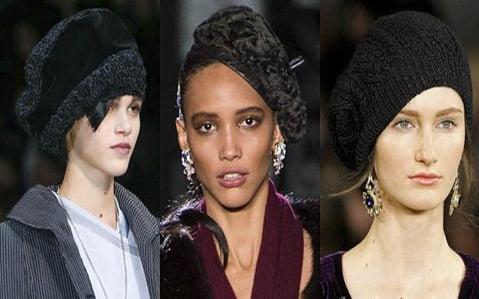 Caciulita sau basc pentru femei la moda in 2013-2014, creatii Giorgio Armani, Dsquared2, Ralph Lauren, Foto: fallwinterfashiontrends.com
