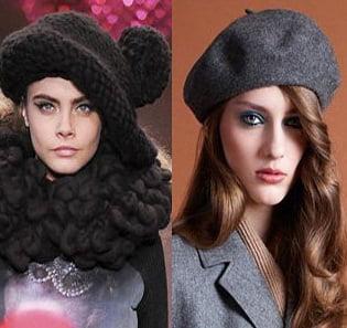 Caciulita sau basc pentru femei la moda in 2013-2014, creatii Sister by Sibling, A.P.C., Foto: fallwinterfashiontrends.com
