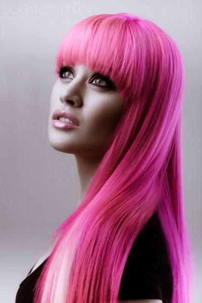 Coafura pentru par in nuante de roz, Foto: modelatucabello.blogspot.ro