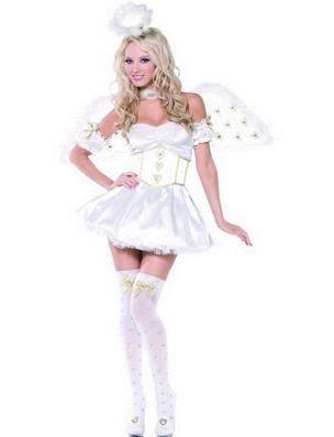 Costum alb de ingeras pentru seara de Craciun, Foto: karneval-megastore.de