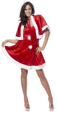 Costum de Craciunita cu pelerina si rochita, Foto: karneval-megastore.de