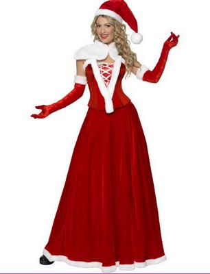 Costum de Craciunita cu rochie lunga, Foto: karneval-megastore.de