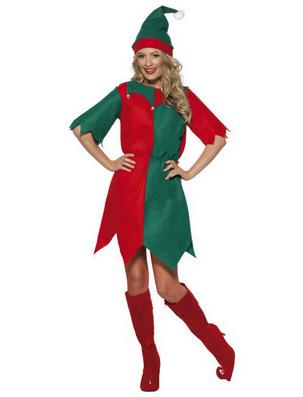 Costum de Elf in verde si rosu pentru Craciun, Foto: karneval-megastore.de