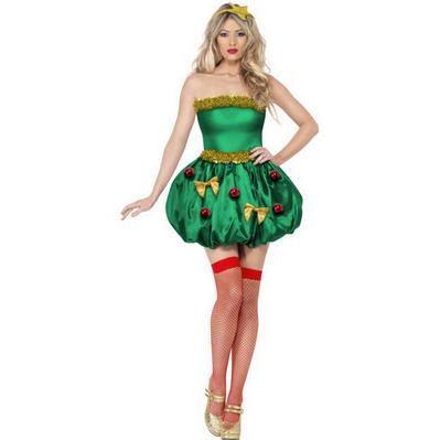 Costum in verde si auriu pentru seara de Craciun, Foto: karneval-megastore.de