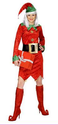 Costum rosu de Elf pentru seara de Craciun, Foto: karneval-megastore.de