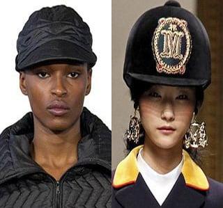Palarii pentru femei la moda in iarna anului 2013-2014, creatii Christopher Raeburn, Moschino, Foto: fallwinterfashiontrends.com
