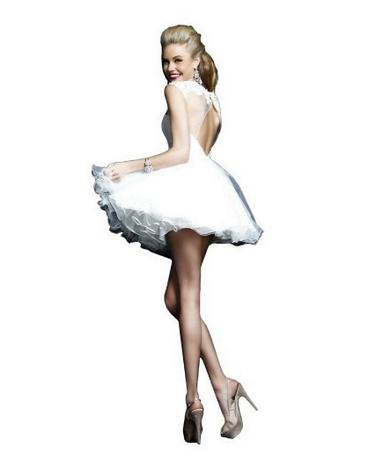 Rochie alba scurta pentru Revelion, Foto: amazon.com