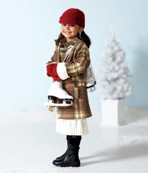 Tinuta eleganta pentru fetita pentru patinaj, Foto: arab47.com
