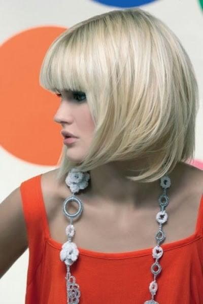 Tunsoare bob pentru par blond, Foto: modelatucabello.blogspot.ro