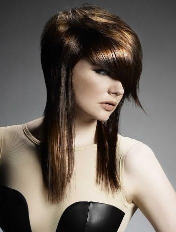 Coafura asimetrica moderna, Foto: haircutstylessidea.blogspot.ro
