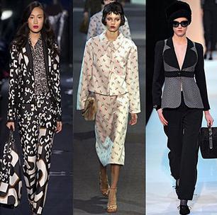 Costume de dama Diane von Furstenberg, Louis Vuitton, Giorgio Armani, Foto: fallwinterfashiontrends.com