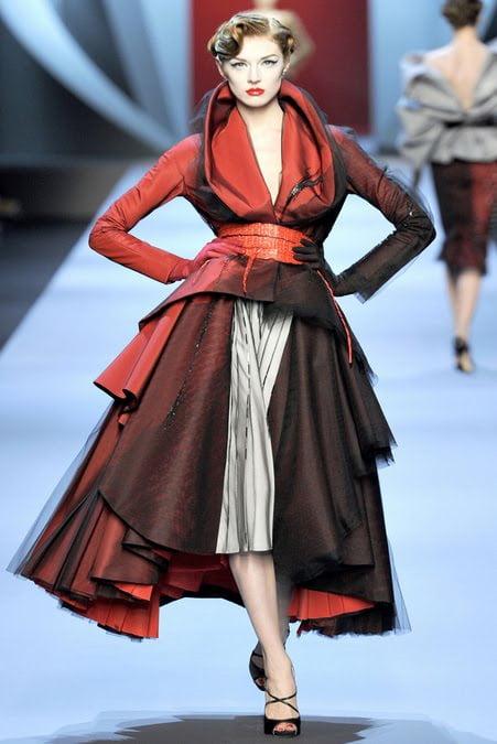 Rochie de Ziua Indragostitilor, creatie Christian Dior, Foto: fashandme.blogspot.ro